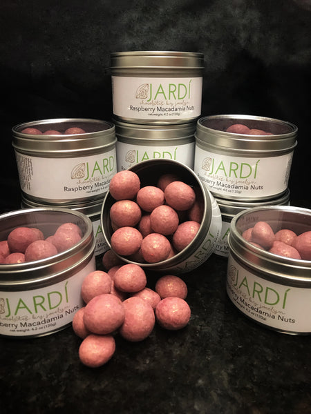Raspberry Macadamia Nuts