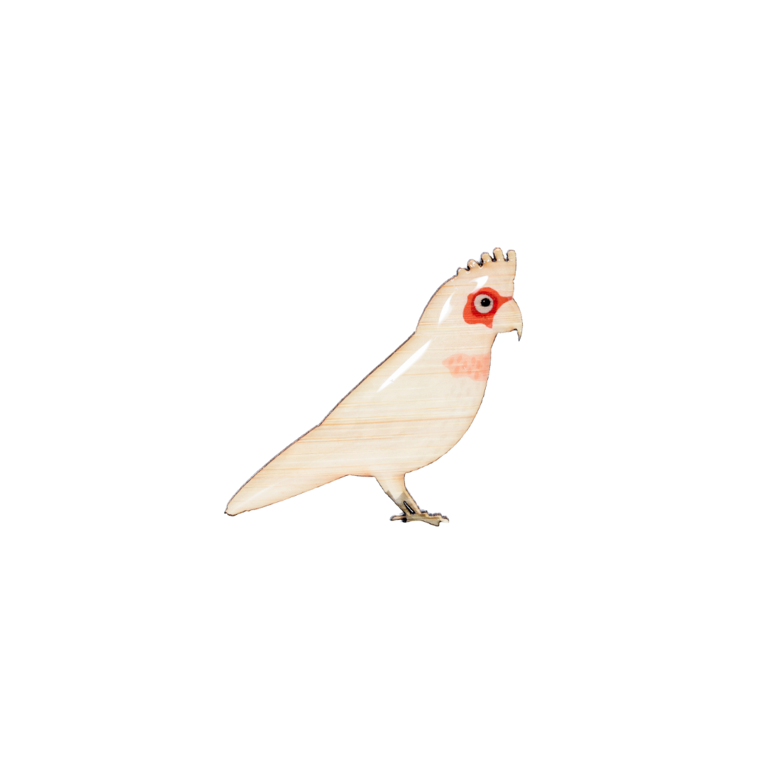 Cockatoo - Long-billed Corella Brooch