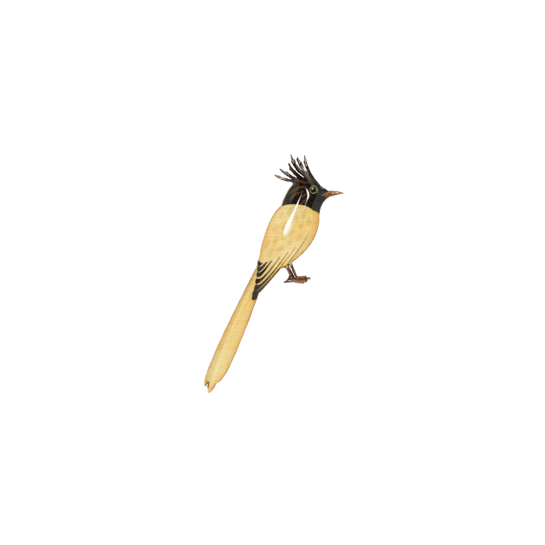 Flycatcher - Asian Paradise Flycatcher II Brooch