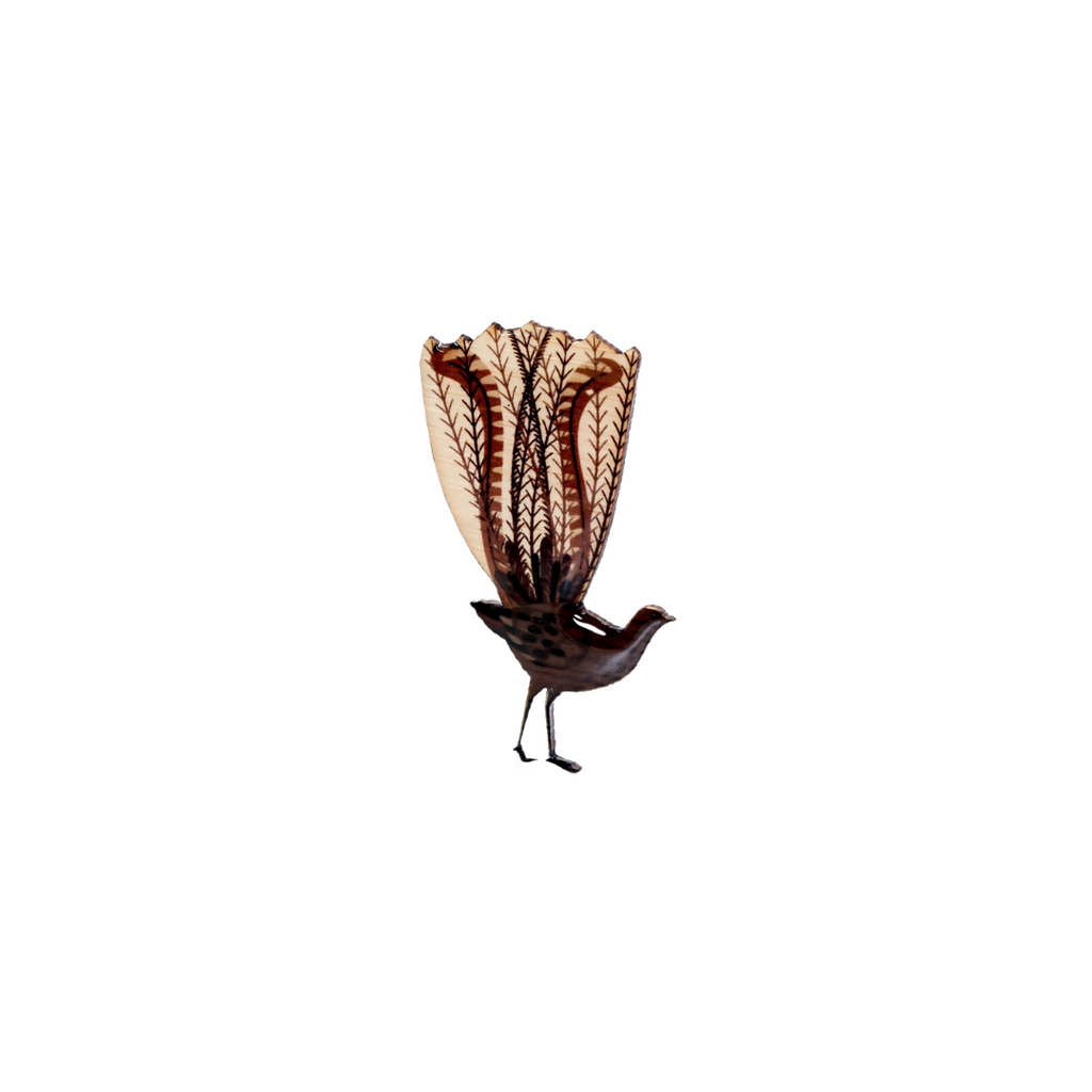 Lyrebird - Superb Lyrebird Brooch