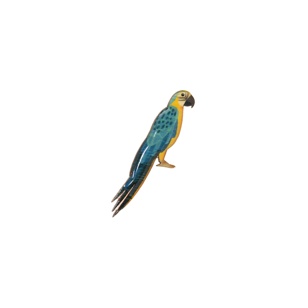 Macaw - Blue & Gold Macaw Brooch