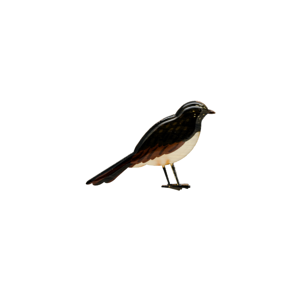 Willie Wagtail Brooch