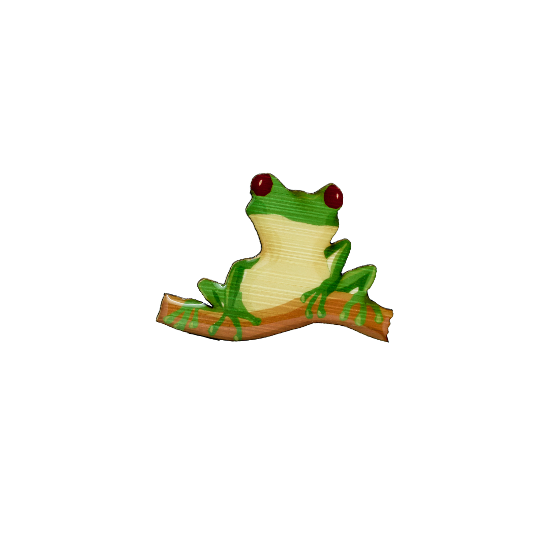 Frog - Red-Eyed Tree Frog Brooch