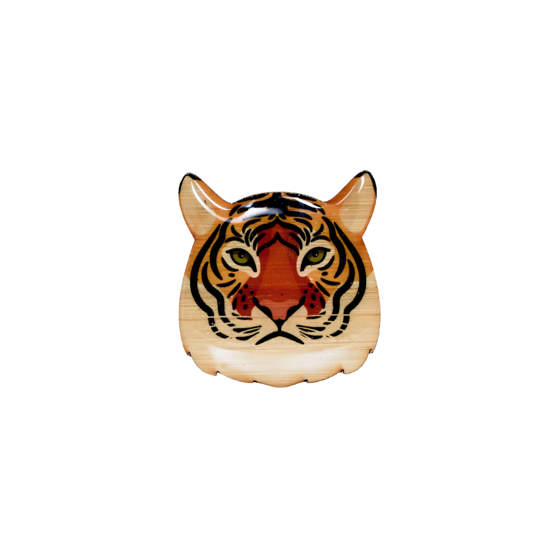 Tiger Face I Brooch