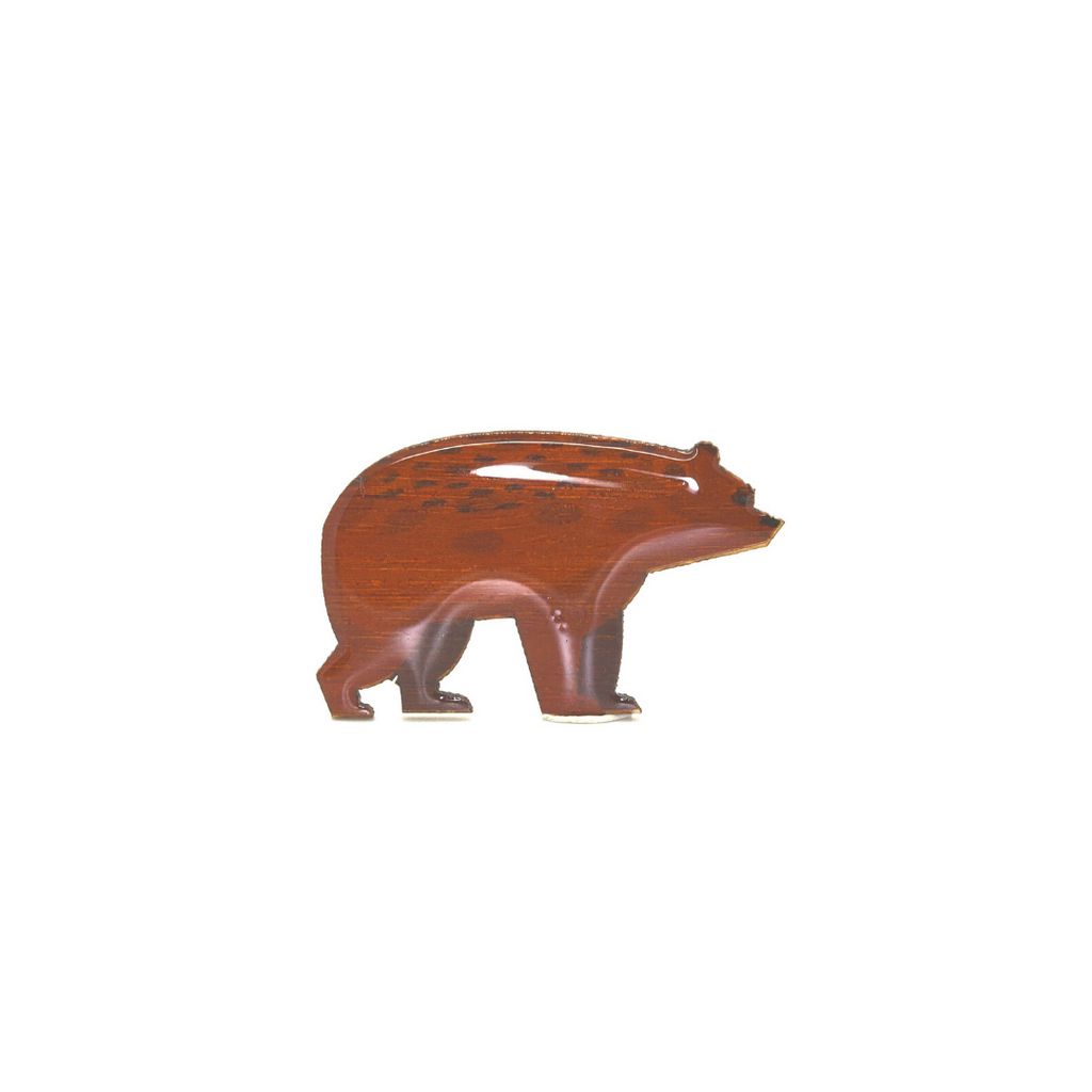 Bear - Brown Bear Brooch