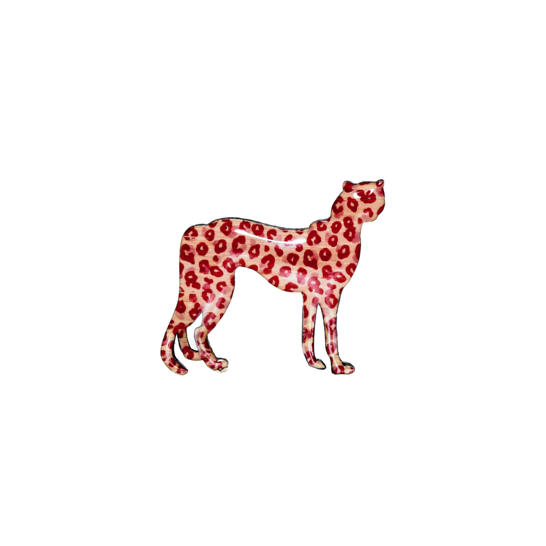 Cheetah Design Brooch