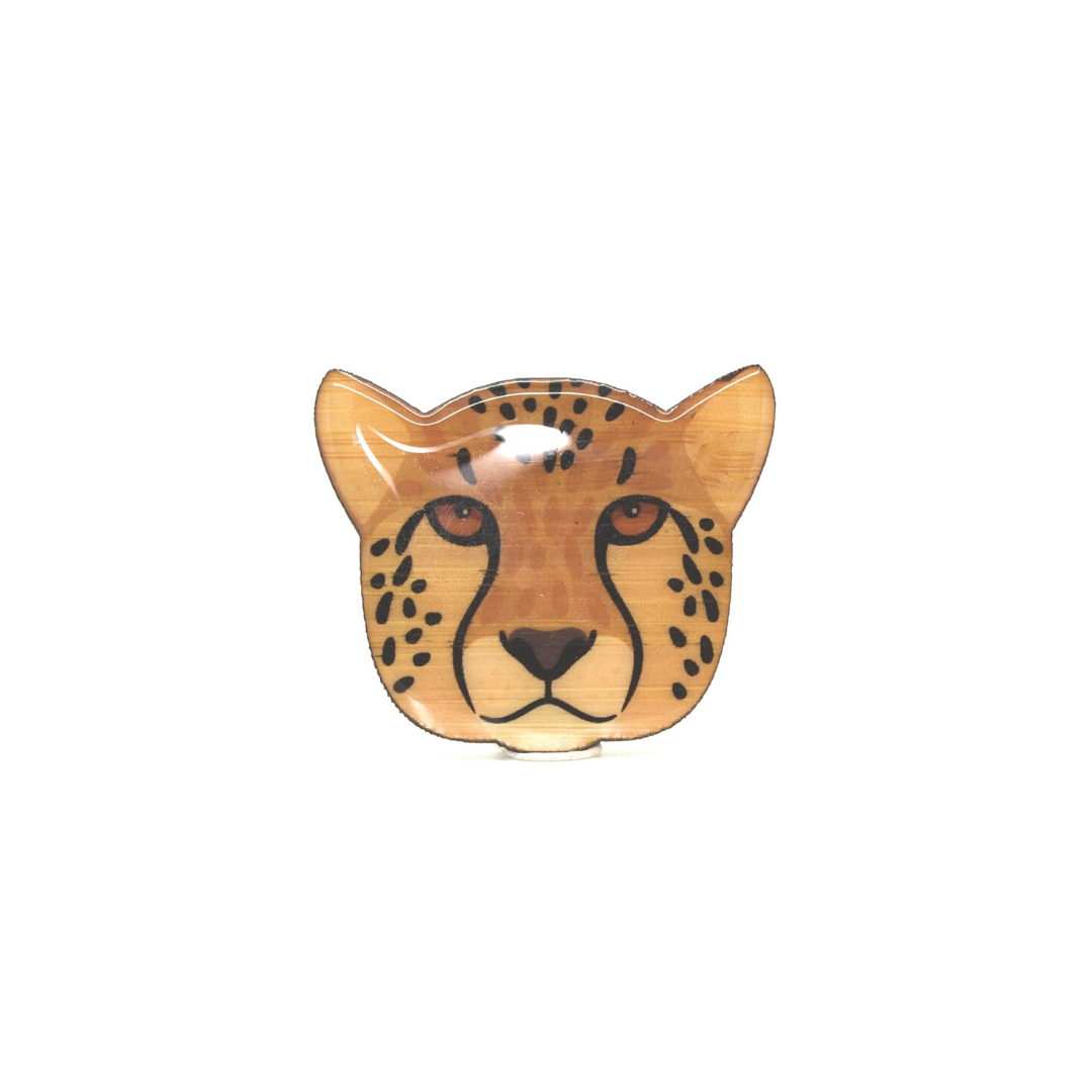 Cheetah Face Brooch