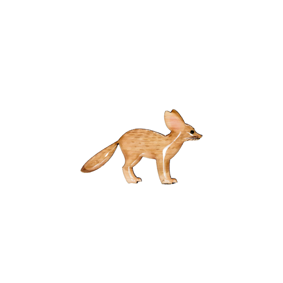Fox - Fennec Fox Brooch