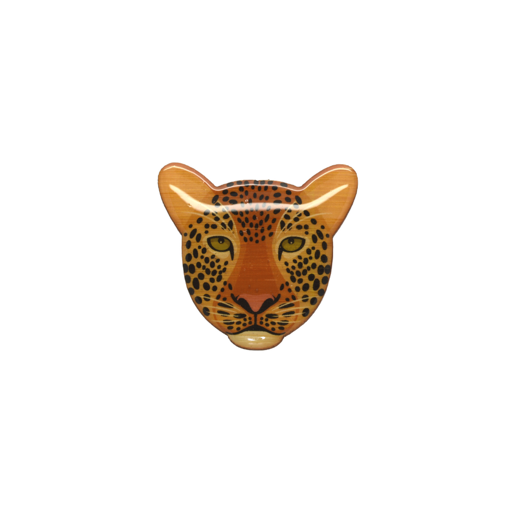Leopard Face Brooch