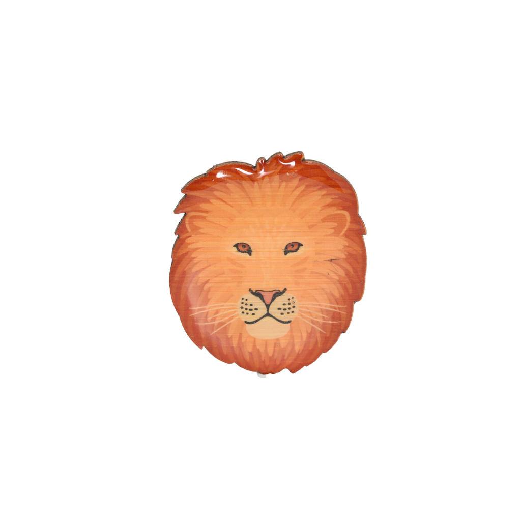 Lion Face II Brooch
