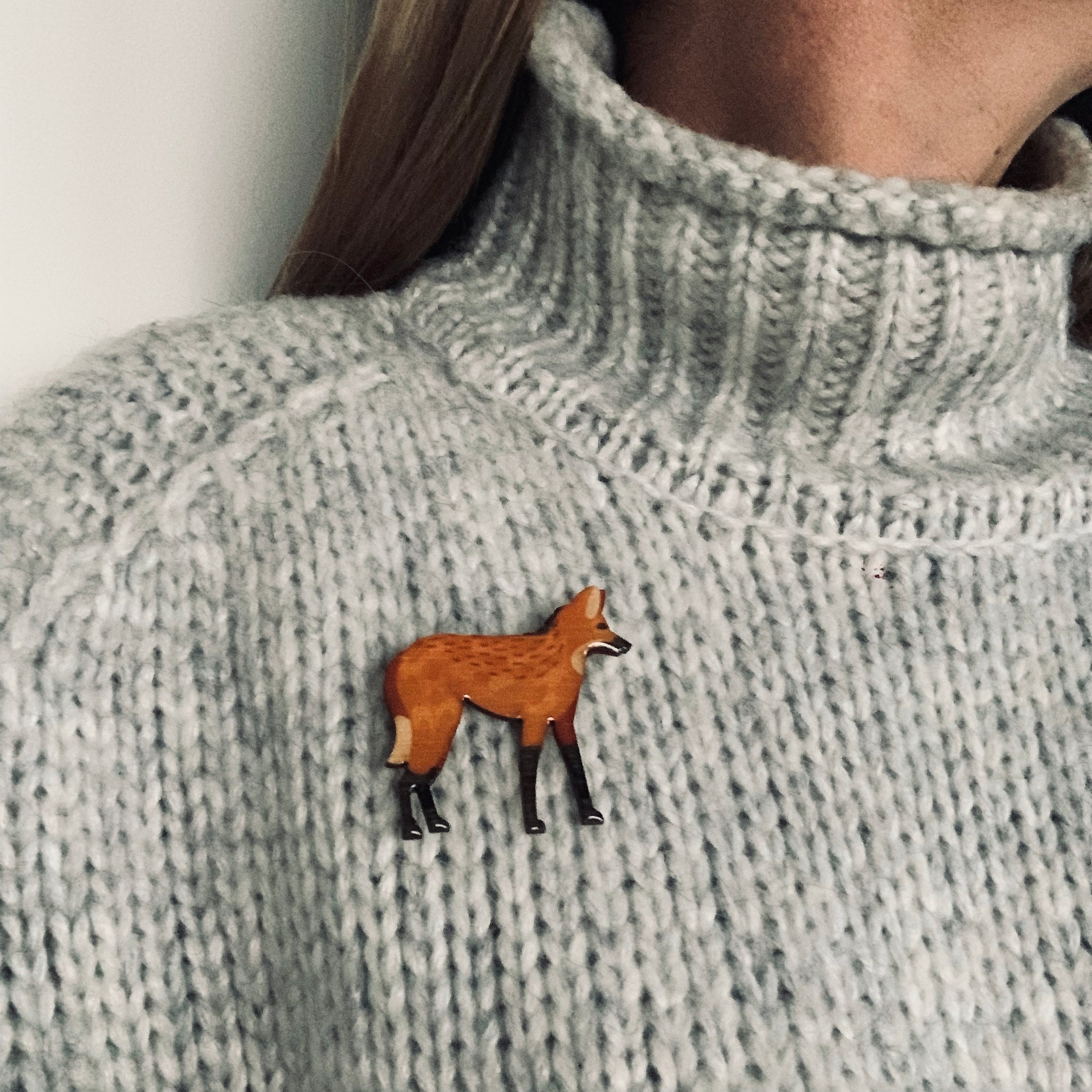 Wolf - Maned Wolf Brooch