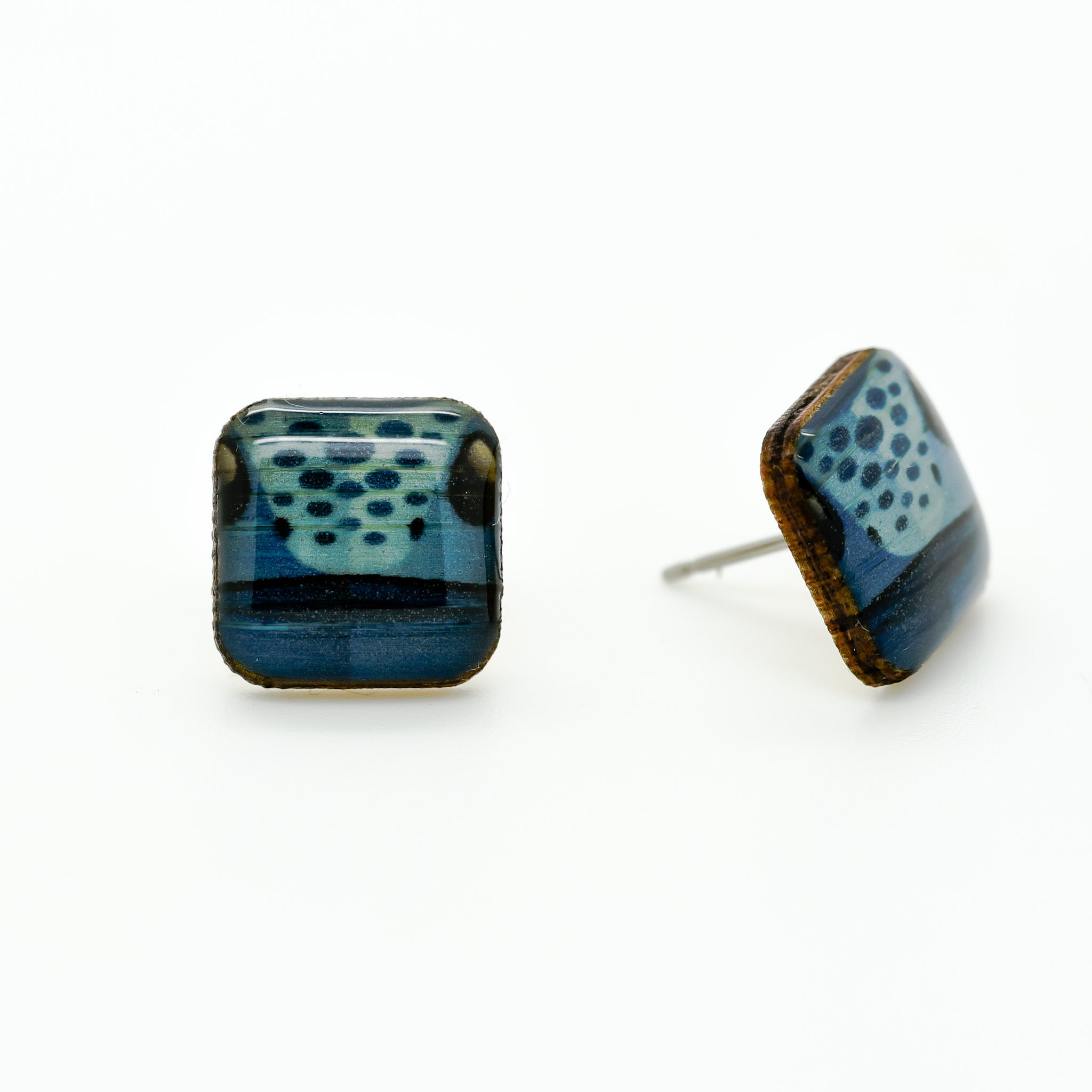 Frog - Blue Poison Dart Earring