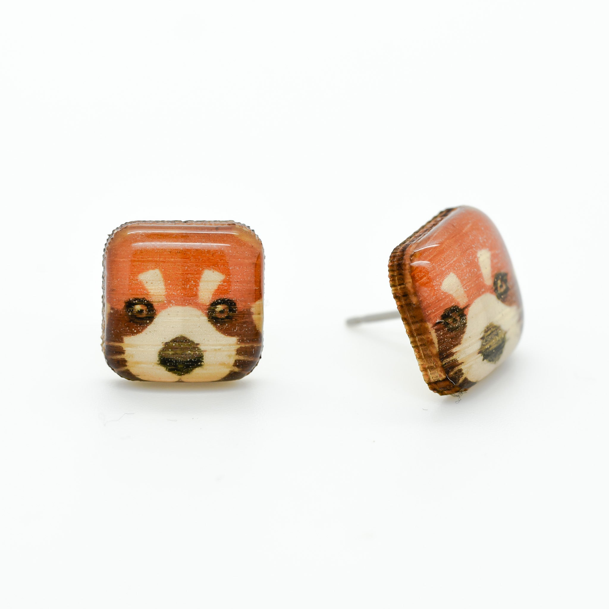 Panda - Red Panda Earring