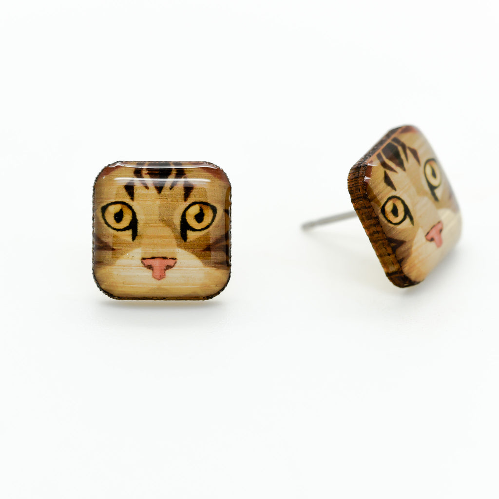 European Cat Earrings