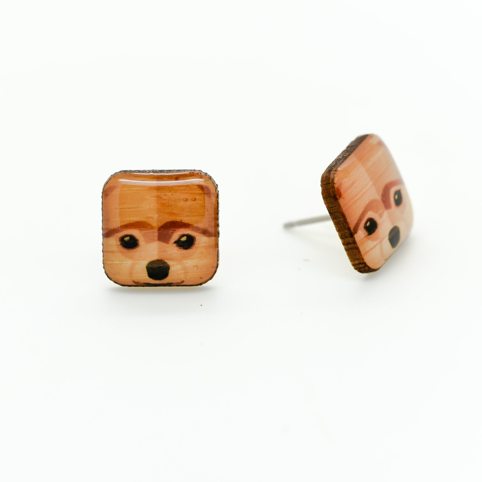 Pomeranian Spitz Earrings