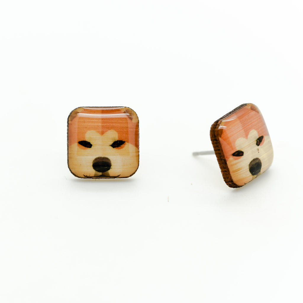Akita Inu Earrings