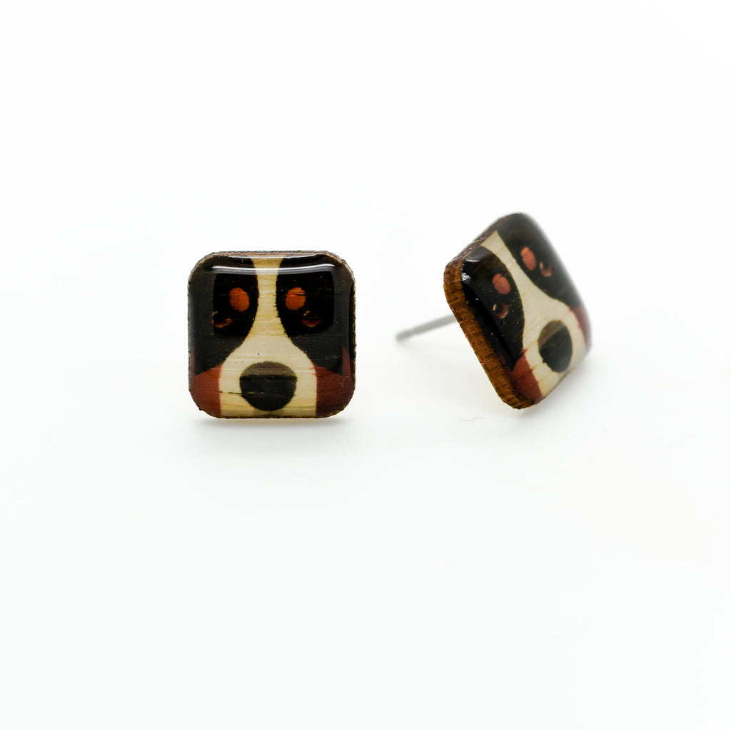 Mountain Dog Earrings