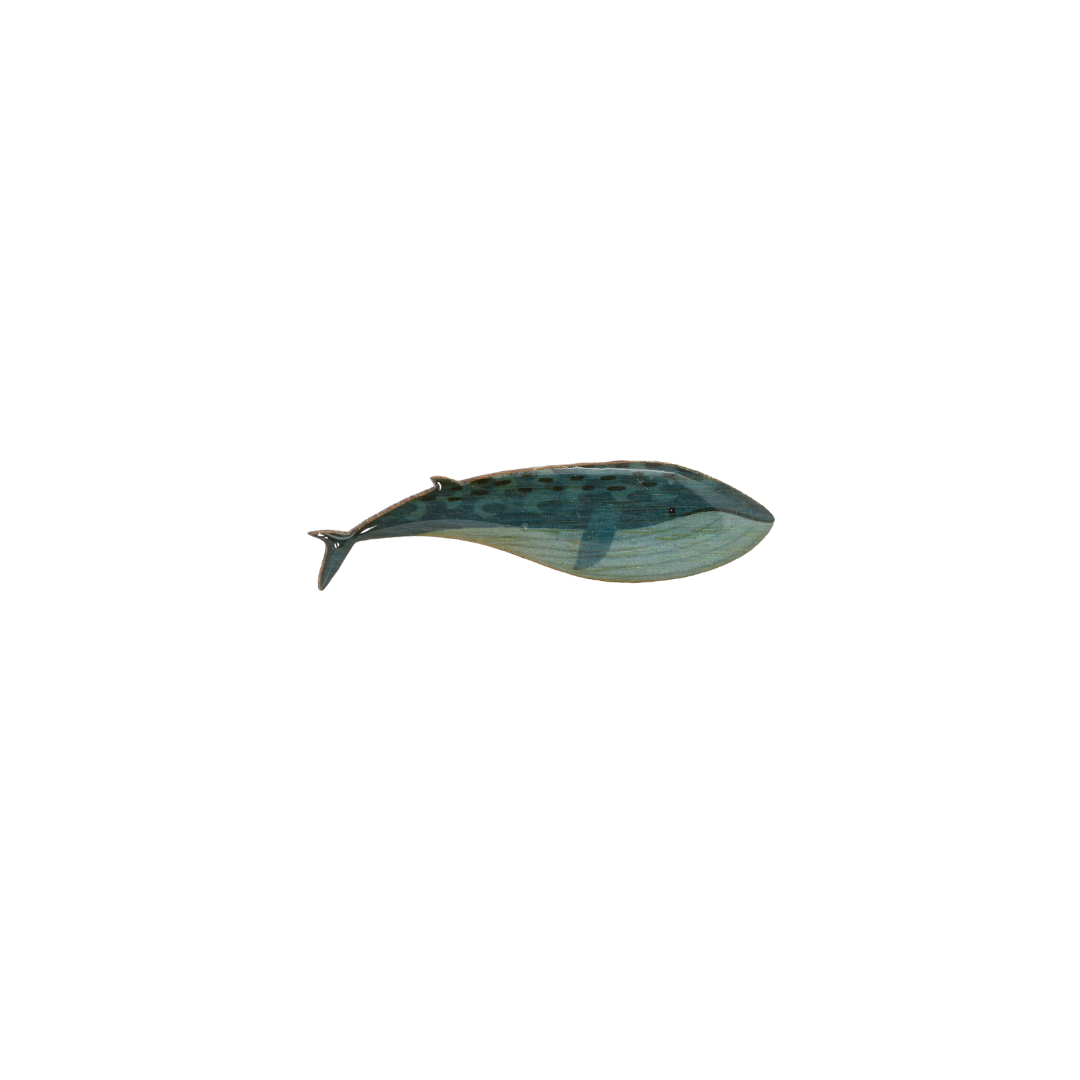 Whale - Blue Whale Brooch