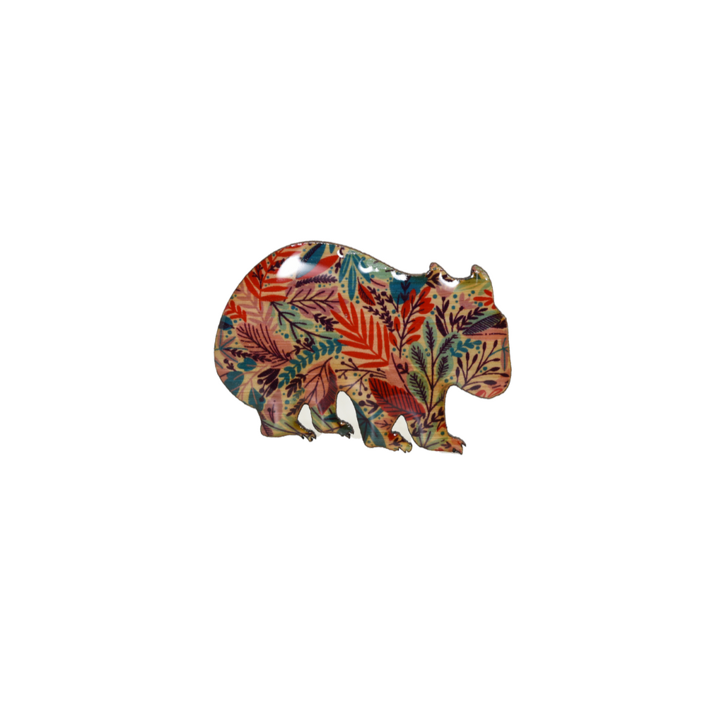 Wombat Design Brooch