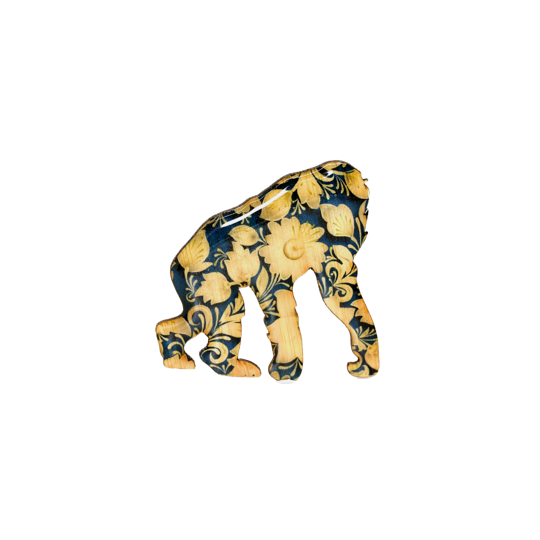 Gorilla Design Brooch