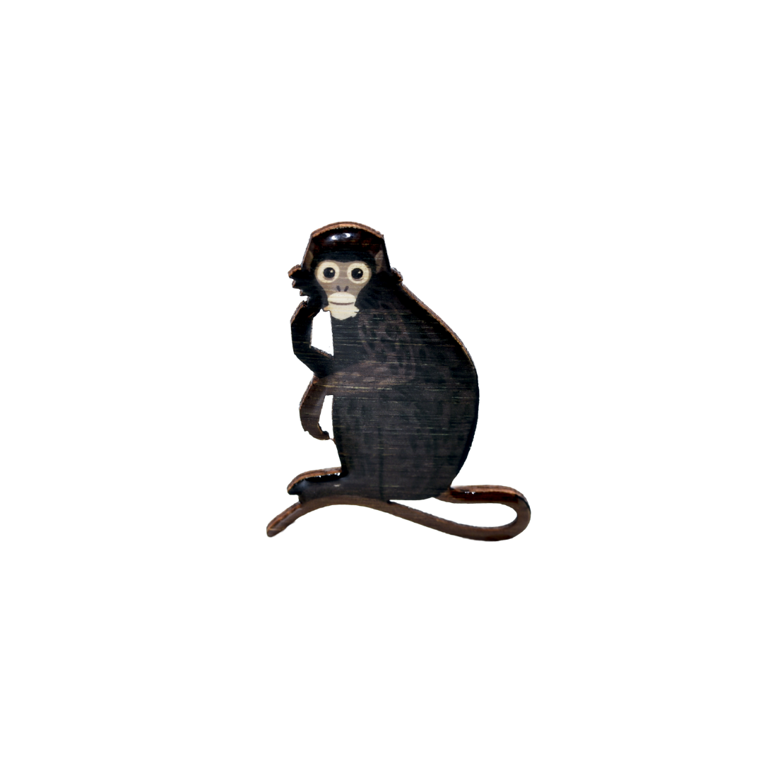 Leaf-Monkey - Dusky Leaf-Monkey Brooch