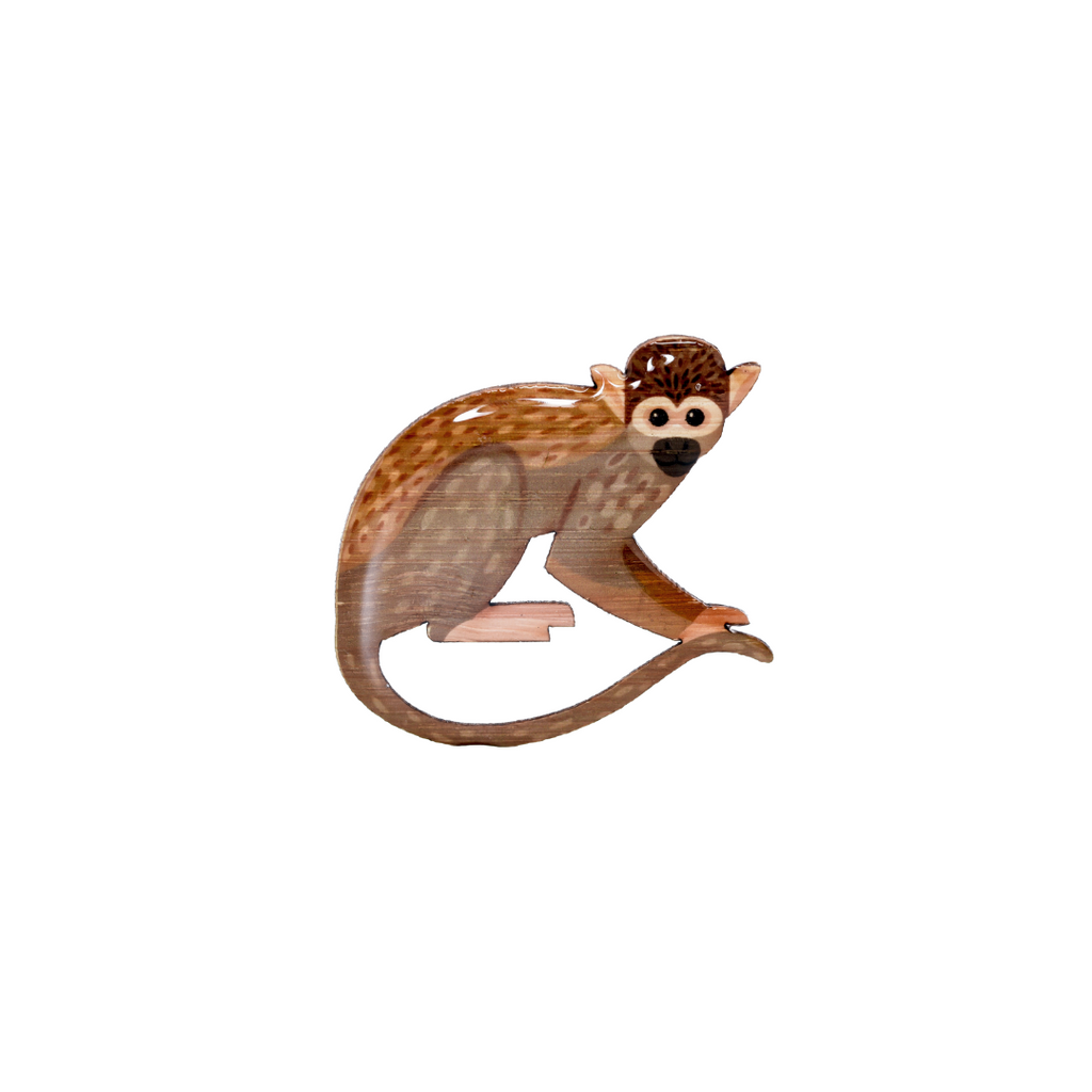 Monkey - Squirrel Monkey Brooch