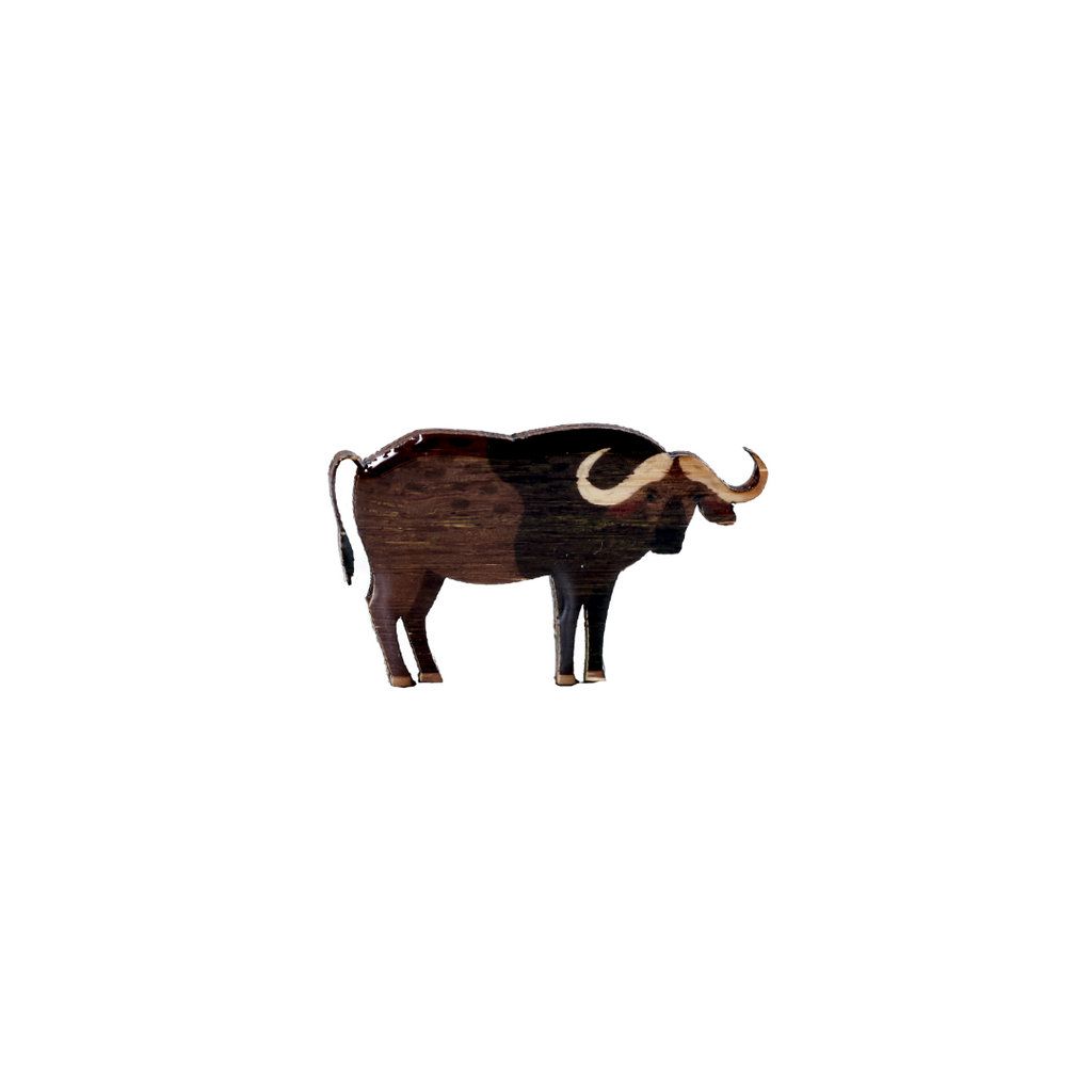Buffalo - Cape Buffalo Brooch
