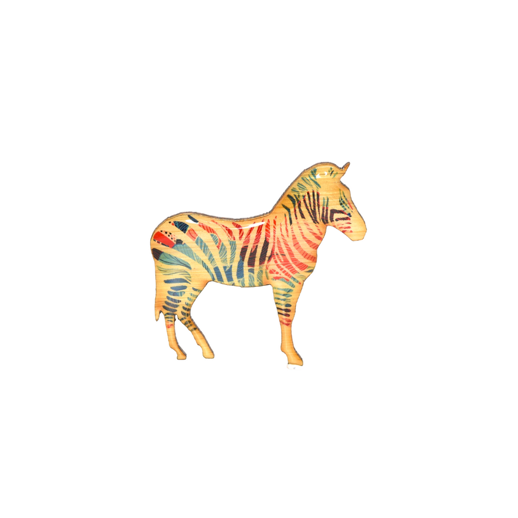 Zebra Design Brooch