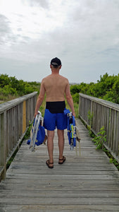 Walking and how to exercise with back support brace for men