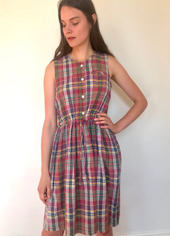 Trudy Plaid Pocket Dress