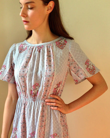 Vintage Indian Block Print Dress