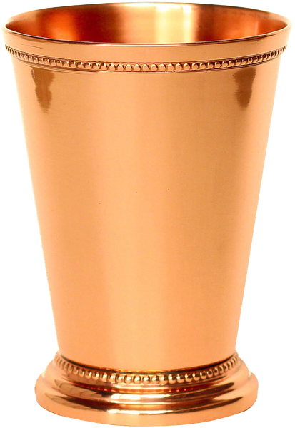 "Copper Mint Julep Cup - Beaded 12oz - 4.5"" Tall - PureCopper - 1"