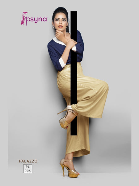 Golden Brown Palazzo Pant - PurpleTulsi.com