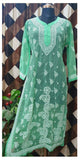 Lucknow Chikankari Georgette Straight Cut Kurti With Matching Inner