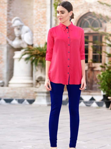 Punch Pink Shirt - PurpleTulsi.com