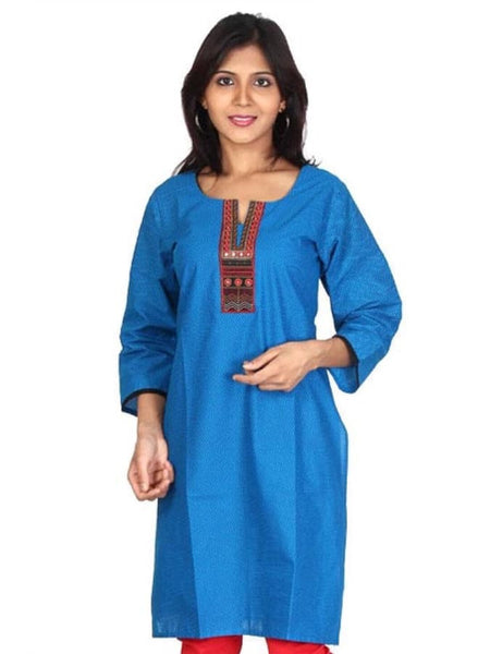 Exotic Blue kurti - PurpleTulsi.com