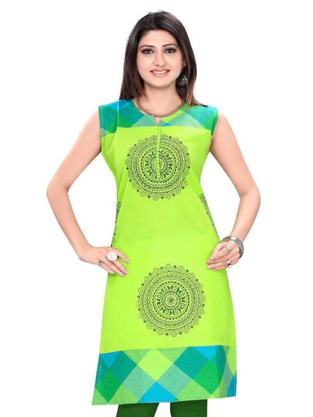 Fresh Liril Green kurti - PurpleTulsi.com  - 1