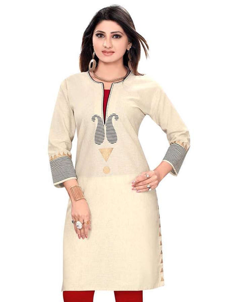 Beautiful Round Neck kurti - PurpleTulsi.com  - 1