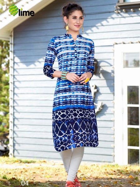 Multicolour Fashion Cotton Kurti