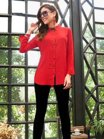 Trendy Red Shirt - PurpleTulsi.com