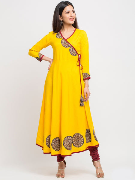 Beautiful Butter Yellow Anarkali Kurti