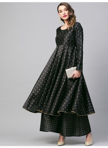 Beautiful Black color Anarkali Kurti