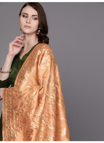Peach Color Silk Blend Dupatta
