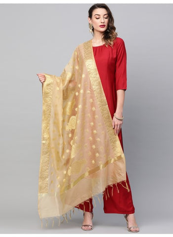 Gold Color Art Silk Dupatta