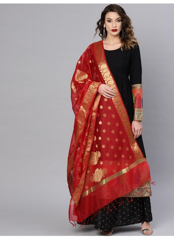 Red Color Silk Blend Dupatta