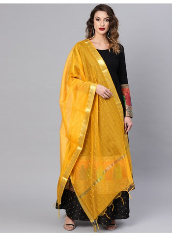 Mustard Color Silk Blend Dupatta