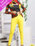 Yellow Jacqard Leggings