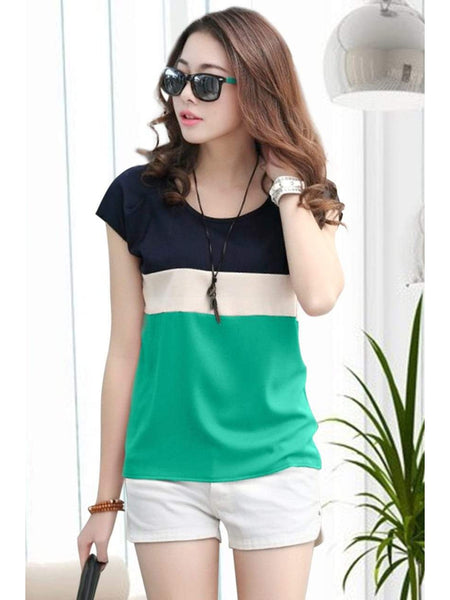 Stylish Green Color American Crepe Top