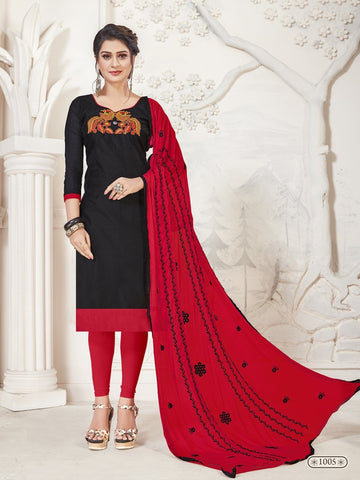 Party Wear Black Color Modal Silk Straight Cut Suit
