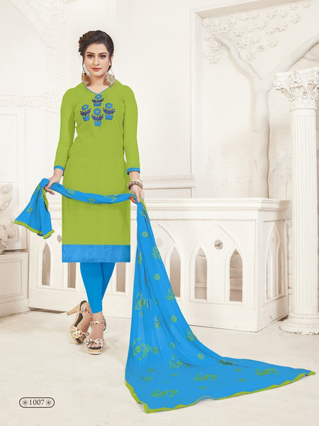 Party Wear Green Color Modal Silk Straight Cut Suit